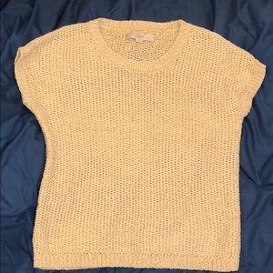 Loft Ann Taylor cap sleeve sweater casual
